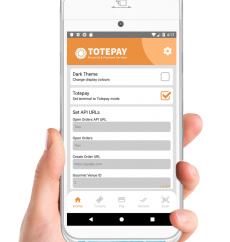 Totepay mPOS settings