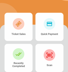 Totepay UI home screen