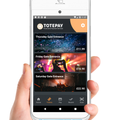 Totepay mPOS dark theme ticket selling