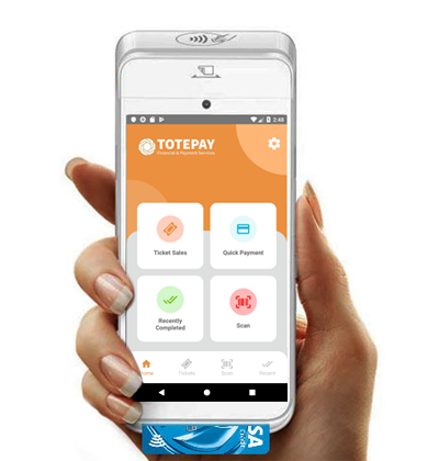 Totepay mPOS home screen UI