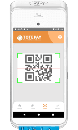 Totepay mPOS barcode scanning